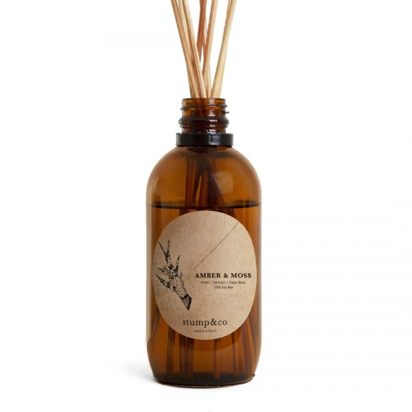 Reed Diffuser | Amber and Moss Fragrance
